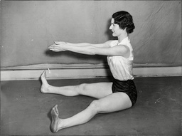 Physical Training Woman Doing Exercises.