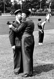 French commander during the traditional symbolic kiss