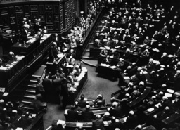 Leon Blum speaks before the French Senate, 1938