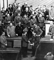 Reich Marshal Goering congratulated Hitler for his 'peace speech' on 6 October 1939