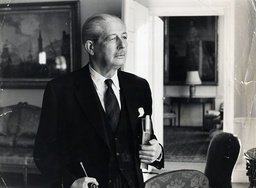 Harold Macmillan in the sitting room at Admiralty House, Whitehall, London, Britain - 09 Jan 1963