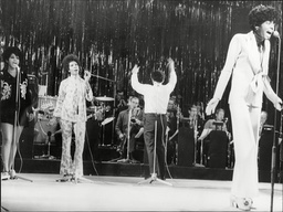 Diana Ross And The Supremes On Stage At Rehearsal For Royal Variety Show At London Palladium 1968.