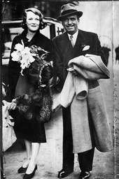 Actor Douglas Fairbanks Snr. (died Dec 1939) With His Bride Who Was Formerly Lady Ashley In Croydon After Their Arrival From Paris.