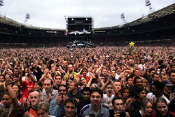 FANS CHEER THE EURYTHMICS AS THEY OPEN NETAID AT WEMBLEY