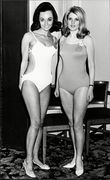 Miss World Competitors Margot Schmalzriedt And Nelly Gallerne Miss Germany And France Respectively For The Year 1968