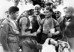 Antonin Magne and Rene Le Greves during the Tour de France, 1936