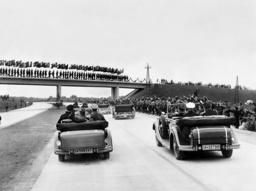 Adolf Hitler opens the Reich highway Breslau-Liebnitz, 1936