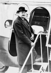 Pierre Etienne Flandin in London, 1936