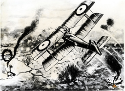 Biplane Wwi. Inglis Sees Mannock Die. ''mick'' Mannock Of Great Britain Routinely Shared Victories With Other Pilots Or Didn''t Bother Submitting Claims For Enemy Aircraft He''d Shot Down In Combat. After Selflessly Sharing His 61st Victory With Dona