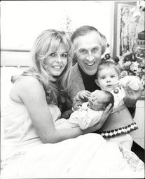 Comedian Bruce Forsyth With Wife Andrea Redfern And New Born Baby And Adopted Daughter.