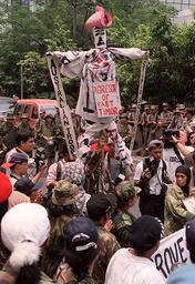 INDONESIA-AUSTRALIA-EFFIGY