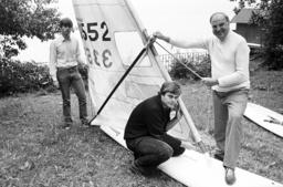 Helmut Kohl on family vacation in St. Gilgen