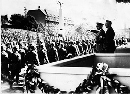 Adolf Hitler thanking his condor legion for their services in Spain