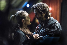 THE 100, (from left): Paige Turco, Henry Ian Cusick, 'Stealing Fire', (Season 3, ep. 309, aired