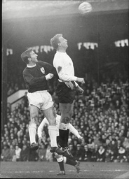 Cliff Jones In Action For Tottenham Hotspur Fc Against Maurice Cook Of Fulham.