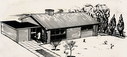 Ideal Home Exhibition 1965. Picture Shows An Artists Impression Of The Wait Gowrie House On Show At The Exhibition.
