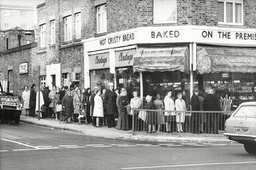 People Queue For Bread At Norwood Road In London During The Strike
