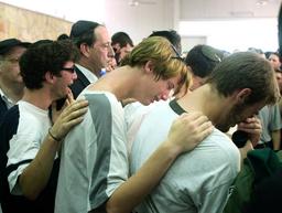 ISRAELIS MOURN SCHIJVESCHUURDER FAMILY DURING FUNERAL IN JERUASLEM