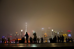 The Bund on the banks of the Huangpu River is pictured before Earth Hour in Shanghai