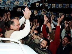 PAKISTAN'S NAWAZ SHARIF MEETS SUPPORTERS IN LAHORE