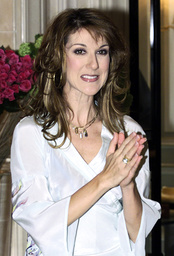 CANADIAN SINGER CELINE DION SIGNALS END TO PHOTO CALL IN PARIS