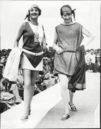 Fashion Models Model Swimwear In 1938 No Date Given.