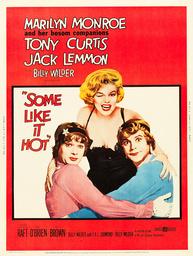 SOME LIKE IT HOT, U.S. poster, Tony Curtis, Marilyn Monroe, Jack Lemmon, 1959