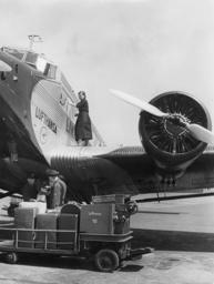 Junkers Ju 52 at Airport Tempelhof in Berlin, 1939