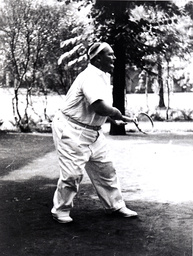 Hermann Göring beim Tennisspielen / Foto 1936 - Hermann Göring playing tennis / Photo, 1936 -