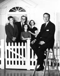 LAMP UNTO MY FEET, front: Hiram Sherman; back, from left: Warren Beatty, Edward Andews, Bennye