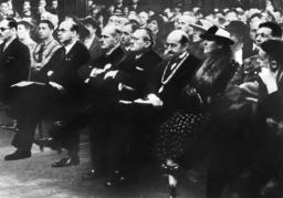 Schmidt, Max Planck, Carl Bosch, Gustav Krupp von Bohlen und Halbach, Baron von Schroder, 1937