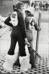 Alpine Sports Show Off Their New Fashionable Ski Outfits For Him And Her At The Daily Mail International Ski Show 1975.