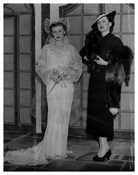 Contrasting Wedding Dresses At The 1936 Daily Mail Ideal Home Exhibition At Olympia.