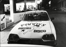 Car In Majorca With Fanny's British Disco Advertised On Its Bonnet 1982.