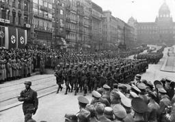 Parade of German paratroopers in Prague, 1939