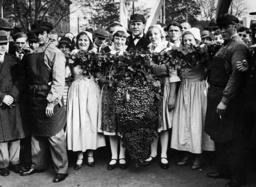 Wine harvest festival in Haardt the Palatinate, 1930