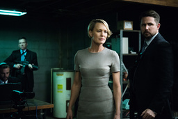 HOUSE OF CARDS, Robin Wright (center), (Season 4, airs March 4, 2016). photo: David Giesbrecht /