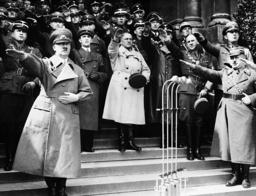 Adolf Hitler, Joseph Goebbels, Josef Burckel, Hermann Neubacher, 1938