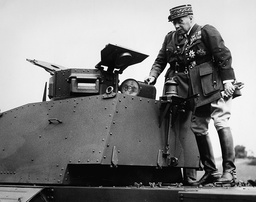 General Maurice Gamelin when visiting British troops, 1939