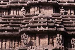 Konarak, Sonnentempel, Teilansicht des Daches / Foto - Konarak, Sun Temple, Roof / Photo - Konarak, temple du Soleil, vue partielle du toit