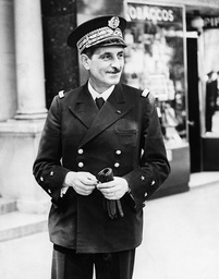 Vice Admiral Emile Henry Muselier Commander Of The Free French Naval And Air Forces Seen Here In London.
