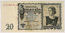 20 Reichsmark 1945 - 20 Reichsmark 1945 - 20 marks du Reich 1945