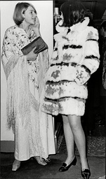 Belinda Lang (13) And Lavinia Hookham (12) (no Details) At Opening Night Of Musical The Boyfriend At The Comedy Theatre 1967.
