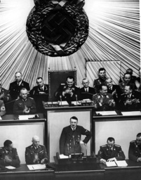 Hitler speaks in the Reichstag on 10/06/1939