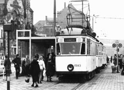 Traffic GDR - tram in the trade fair city Leipzig