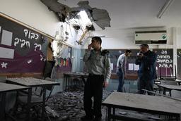 MIDEAST-ISRAEL-CONFLICT-GAZA-GRAD ROCKET