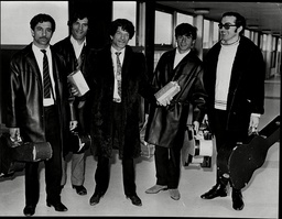 Famous Guitarist Manitas De Plata (centre) Arrives In London From Barcelona With His Group.