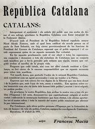 Ban programa república catalana. Francesc Macià.