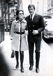 Actor Roger Moore And Miss Luisa Mattioli.whom He Married In April 1969