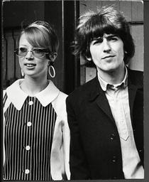 George Harrison (died November 29 2001) And His New Wife Model Patti Boyd Fly Out To The West Indies Two Weeks After Their Marriage.